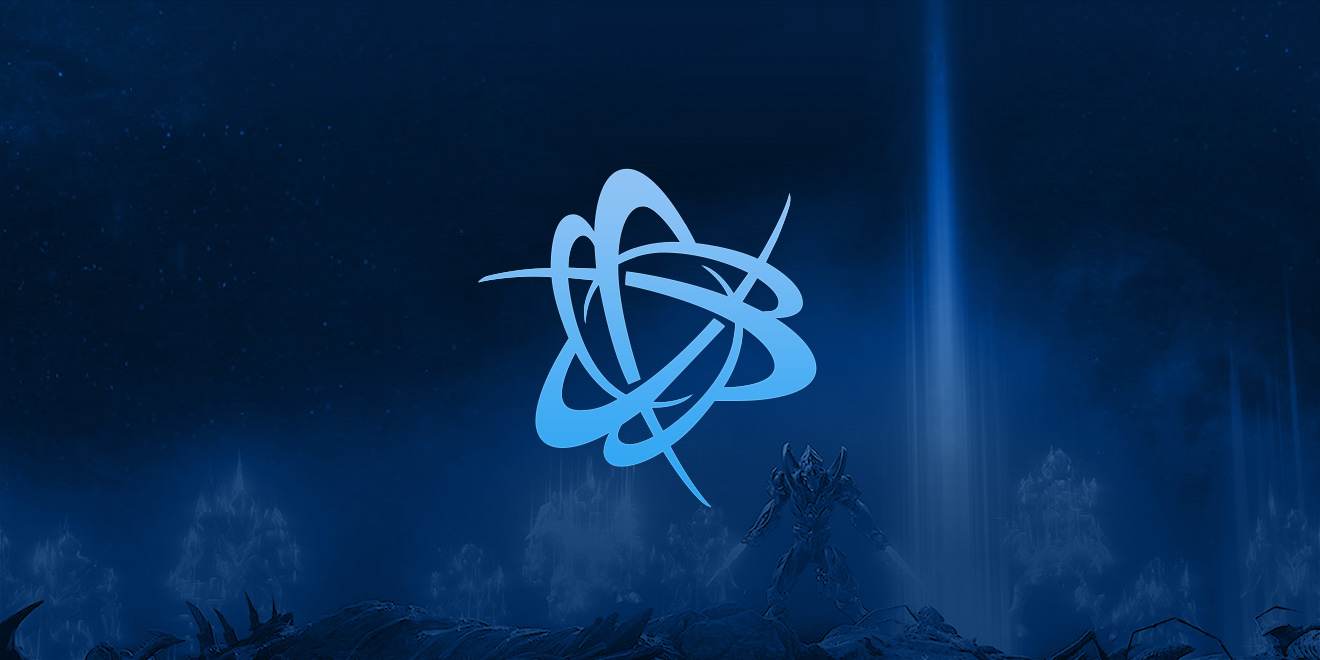 Battle.net logo on a StarCraft-themed background