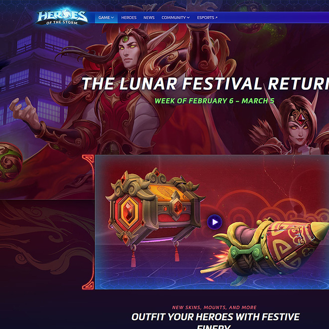 Snippet of the Lunar Festival event header